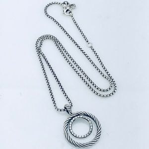 David Yurman Silver Mobile Necklace with Diamonds